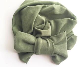 Green Baby Turban
