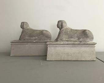 Egyptian Revival Sphinx Bookends