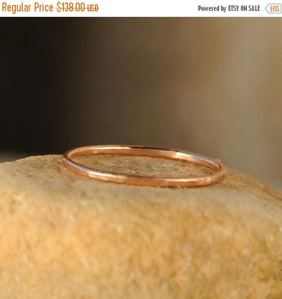 ON SALE Stack Ring - Thin Stacking Ring - Rose Gold Stackable Ring