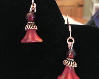 Red Festive Lady Earrings