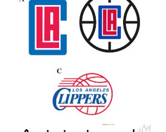 LA Clippers Basketball Decal/ RTIC, YETI, Tumbler, Car, Cell Phone, Computer