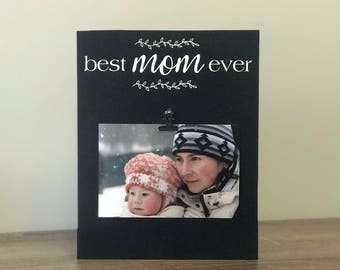 personalized gift for mom photo frame best mom ever mom picture frame birthday - Mom Picture Frame
