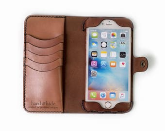 iPhone 6 Plus Leather Wallet Case, iPhone 6 Plus Case, Leather iPhone case, iPhone 6 Plus wallet, leather phone case, ready to ship