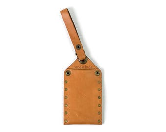 Leather Luggage Tag / durable / handmade / Ready to Ship