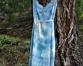 Upcycled dress, Vintage slip, beach cover, fairy dres, boho dress, hippie dress, Boho dress, tie dye slip