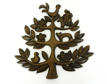 Plastic Homco Tree of Life Wall Hanging