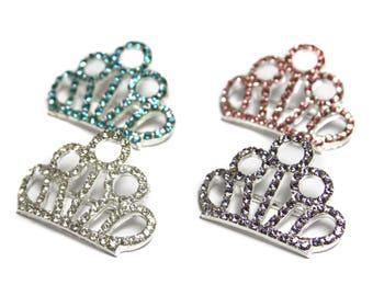 Tiara Sliders - Baby Tiara - Tiara Headband - Hair Accessories Supplies - Set of 3 Tiaras