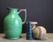 Antique Green Universal Jug Thermos // Chippy Paint // Landers Frary & Clark // New Britain Conn.