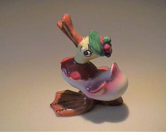 Vintage 1940's ceramic duck figurine