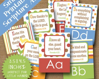 ABC Scripture Flashcards | Kid's Bible Verse Alphabet | DIY Christian Scripture Alphabet | Preschool, Sunday School | ABC: God's Way for Me