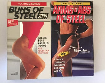 Lot Of 2 Buns of Steel 2000 (VHS, 1993)