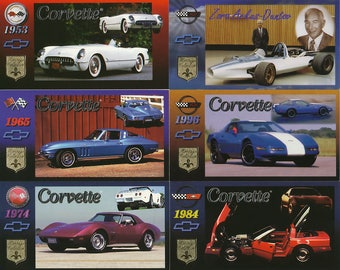 1996 Corvette Wide Screen Heritage Collection Trading Card Set