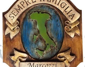 Italian Family Name Wall Plaque