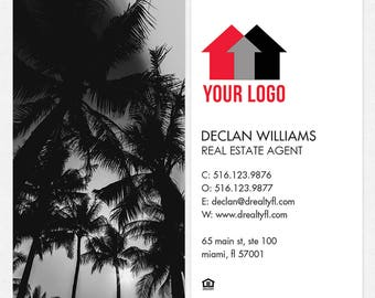 no photo independent real estate professional DELUXE business cards - thick, color both sides - FREE UPS ground shipping