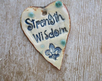 Strength and Wisdom Essential Oil Diffuser Pendant hand made jewelry