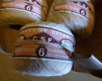 Vintage Pure Hemp - Chanvre Thread, French Circa 1930's