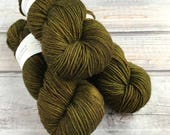 RESERVED for Patrick: Journey Worsted in Olives by Skeinny Dipping Yarn