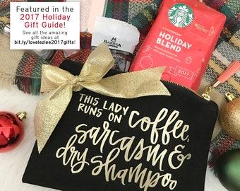 Lady Runs On Coffee Essentials Bag