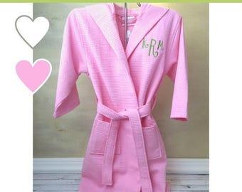 SALE Kids Robes, Kids Bathrobe, Flower Girl Robe, Waffle Weave Robe, Wedding Robes, Jr Bridesmaid Gifts, Flower Girl Gifts,