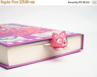 CHRISTMAS IN JULY -20% // Kitty-Cutie bookmark // Pink kitty from fairyland best gift for her // Back to school gift for student, teacher //