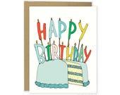 Friend Birthday Card, Cute Birthday Card, Sweet Birthday Card, Birthday Card For Wife, Girlfriend, Husband, Mom, Dad, Coworker, Food Card