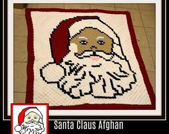 C2C Graph, Santa Claus Afghan, C2C Graph, Word Chart, Santa C2C, Corner to Corner