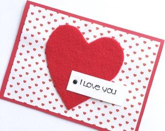 I Love You Card **READY TO Ship**