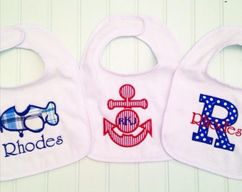 Personalized Boys Bib Set