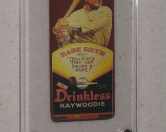 new just in babe ruth kaywoodie pipes advertising card awesome vg card in a screwdown case