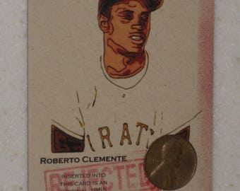 new just in roberto clemente Authenticated Ink Coin Card
