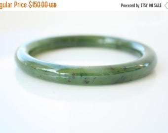 FLASH SALE Genuine Jade Bangle - Green Nephrite - B Grade