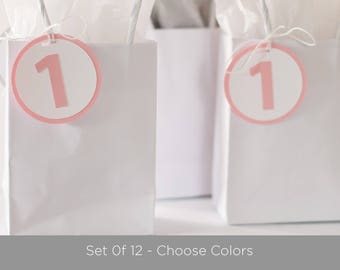 Party Favor Tags - Baby Shower Decorations - Set of 12 - Choose Colors and Number