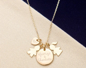 The Duchess Necklace - Merci Maman Jewellery Gift worn by The Duchess of Cambridge - Kate Middleton, mother's day gift