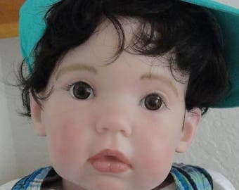 """Reborn 31"""" Big Toddler Boy Doll """"Toby"""" from Tibby sculpt"""