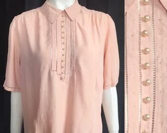 1940s silk blouse 1930s blouse