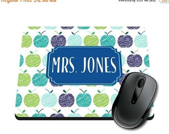 ON SALE NOW Apples Personalized Printed Mouse Pad / Office Accessories / Desk Accessories / Mousepad / Girly Mousepad / Teacher Mousepad