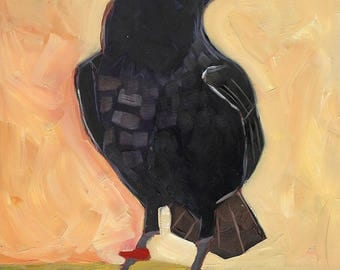 Raven Original Oil Painting