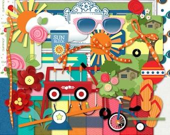Summertime Digital Scrapbook Kit