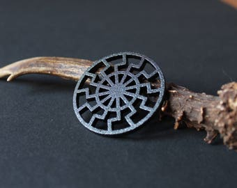 Black Sun Necklace Totem - Schwarze Sonne - Wewelsburg Sun wheel