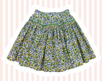 Girl's Liberty Print Skirt | Green Ricardo's Bloom