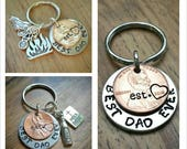 Dad Keychain, New Dad Gift, Best Dad Ever, Paw Paw Keychain, Charm Keychain, Gift for Grandpa, Daddy Since Penny, Penny Keychain, Uncle Gift