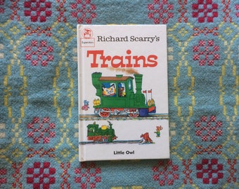 Richard Scarry's Trains - Fun Children's Book with Lovely Illustrations