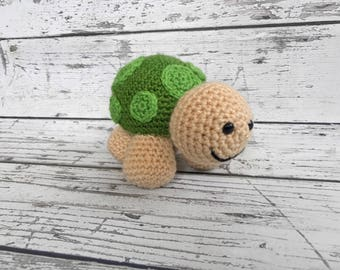 Shelly the Turtle, Crochet Turtle Stuffed Animal, Plush Animal, Turtle Stuffed Toy, Ready to ship