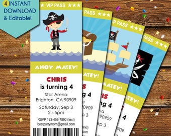 Pirate Invitation, Pirate Party Invitation, Boy Pirate Birthday Invitation, Pirate Boy, Pirate Invite, Pirate Ship, Pirate Flag, Treasure