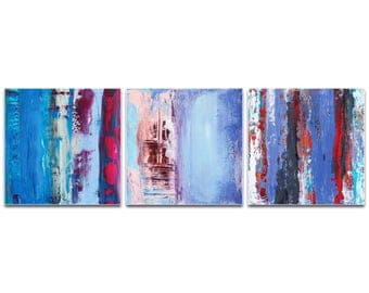 Abstract Wall Art 'Urban Triptych 1' by Celeste Reiter - Urban Decor Contemporary Color Layers Artwork on Metal or Plexiglass