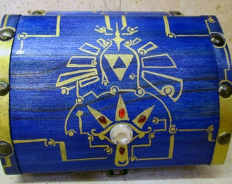MUSICAL--The Boss Key Chest from The Legend of Zelda: Ocarina of Time Solid Wood, Brass and Resin Accents, Re-recordable