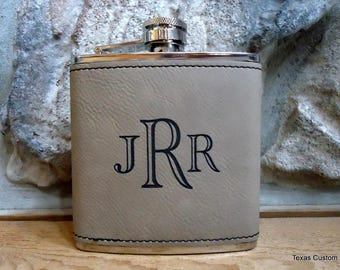 Personalized Flask, Laser Engraved Flask, Monogrammed Flask, Graduation Gift, Groomsman Gift