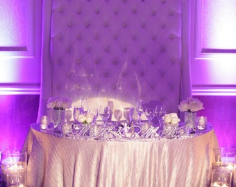 Mr. and  Mrs. Sparkling SILVER or GOLD Rhinestone Letters on Plexi holder for your wedding sweetheart table, Mr. and Mrs. display
