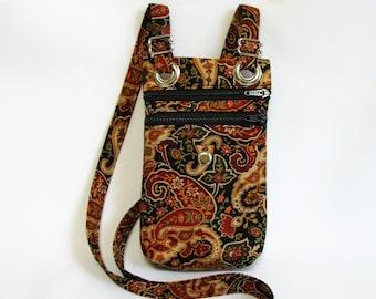 Small hip bag- Paisley cotton