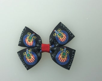 Chivas hair bow with alligator clip